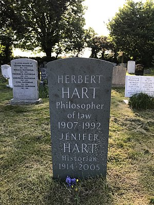 H. L. A. Hart - Grave of H. L. A. Hart at the Wolvercote Cemetery in Oxford