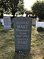 Grave of H. L. A. Hart at the Wolvercote Cemetery in Oxford. 2017.jpg