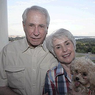 Mike Gravel - Mike and Whitney Gravel with their dog Ginger