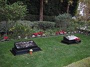 Gravestones of President Richard and first lady Pat Nixon