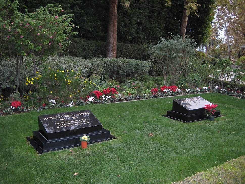 Gravestones of President Richard and first lady Pat Nixon