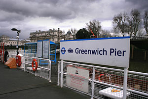 London River Services - Greenwich Pier with TfL branding