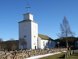 Greipstad Church in Songdalen municipality