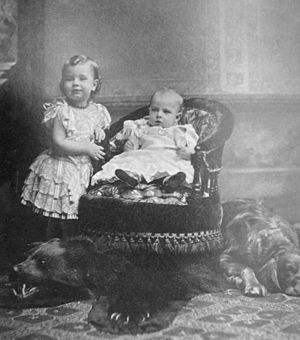 Gustaf VI Adolf of Sweden - Gustaf Adolf photographed with his younger brother Prince Vilhelm in 1885.