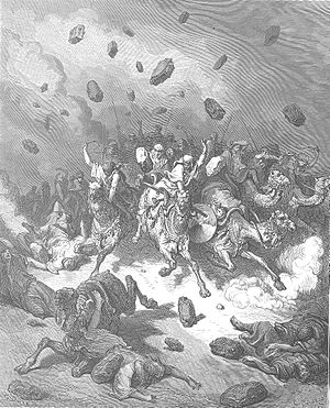 Amorites - Destruction of the Army of the Amorites by Gustave Doré.