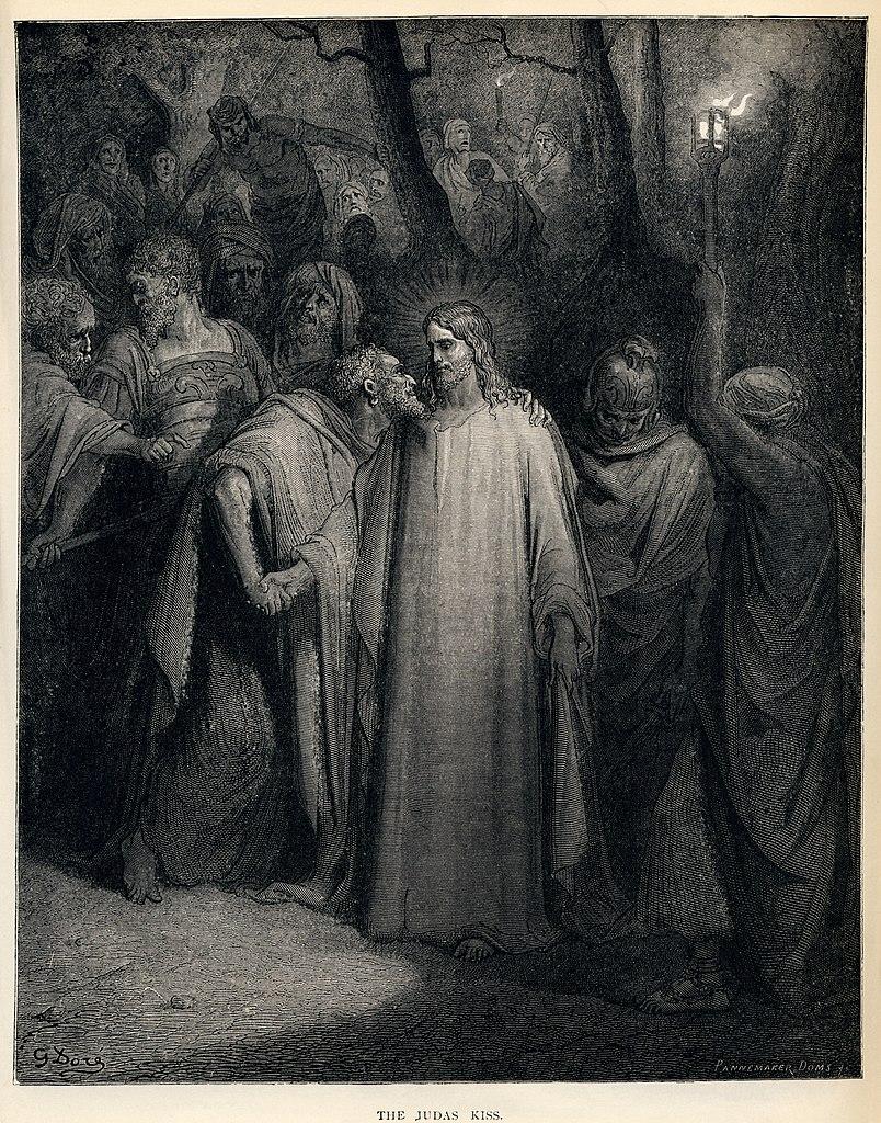 유다의 입맞춤 (귀스타브 도레, Gustave Dore, 1865년)
