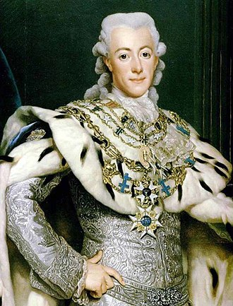 Gustav III of Sweden - Portrait by Alexander Roslin, 1777