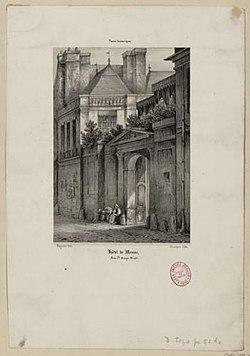 Hôtel de Mesmes rue Sainte-Avoye Champin, Jean-Jacques (Sceaux, 08–09–1796 - Paris, 25–02–1860).jpg