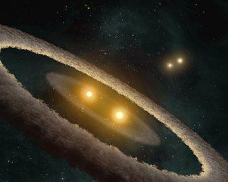 Star system - HD 98800 is a quadruple star system located in the TW Hydrae association.