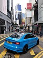 HK 中環 Central 皇后大道中 Queen's Road Central December 2019 SS2 05 Pottinger Street blue car.jpg