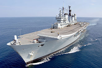 HMS Ark Royal (R07) - HMS Ark Royal participating during an Amphibious Exercise off the Eastern coast of the United States in 2008