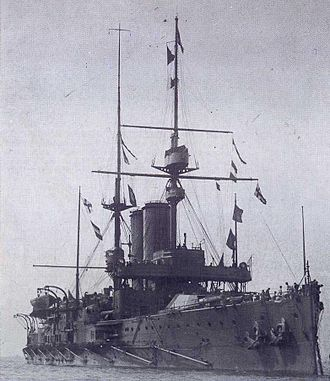 HMS King Edward VII - Image: HMS King Edward VII (1903) in early 1907