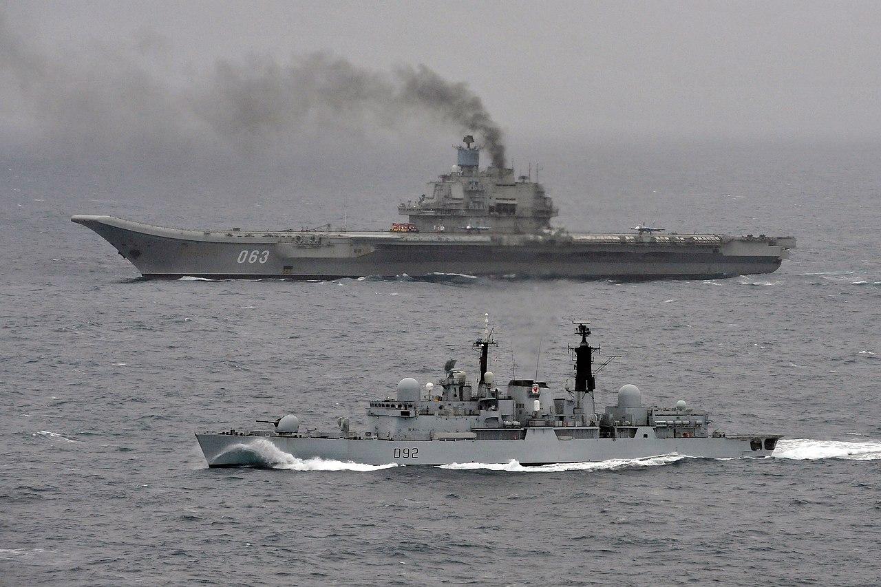 HMS Liverpool Escorts Russian Carrier Admiral Kuznetsov MOD 45153590.jpg