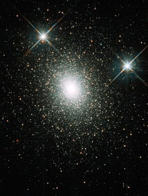 Nicholas Mayall - Hubble Space Telescope image of Mayall II, a globular cluster in the Andromeda galaxy.