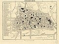 HUA-212038-Plattegrond van de stad Utrecht met directe omgeving met weergave van het stratenplan deels met straatnamen wegen en watergangen en aanduiding van de .jpg