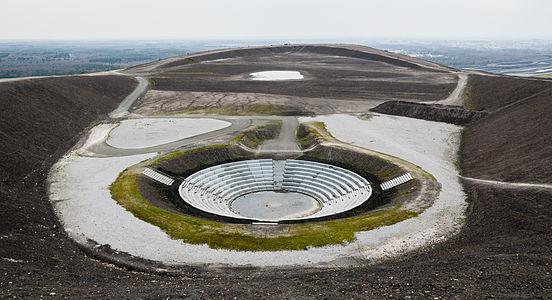 Mining waste tip (Halde Haniel) in Bottrop with Amphitheater