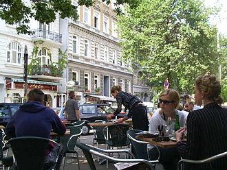 St. Georg, Hamburg - Street cafe in the street Lange Reihe