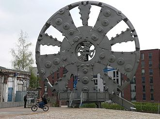 Tunnel boring machine - Cutting shield used for the New Elbe Tunnel