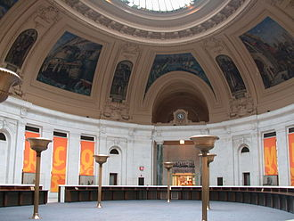 Reginald Marsh (artist) - Marsh's murals in the rotunda of the Alexander Hamilton U.S. Custom House, 1937