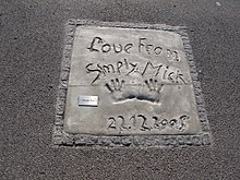 Handprints of Simply Red in Olympiapark, Munich.jpg