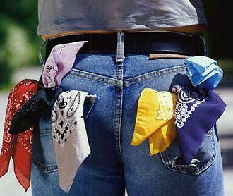 Handkerchief code - An assortment of handkerchiefs