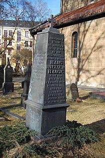 Hans Nielsen Hauge, gravminne på Gamle Aker kirkegård, Oslo, DSC 3689.JPG