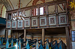 Hanstorf Kirche Loge mit verschiedenen Wappen.jpg