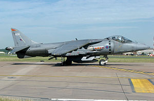 Harrier Jump Jet - A Harrier GR7A of 800 Naval Air Sqn, Royal Navy
