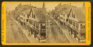 Timeline of Cambridge, Massachusetts - Image: Harvard square, by King & Pearson