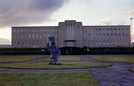 The main building of the University of Iceland - Iceland