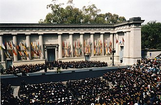 Hearst Greek Theatre - Image: Hearst Greek Theater graduation
