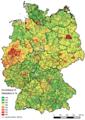 Hebesatz Grundsteuer B Deutschland 2014.png