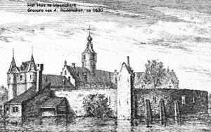 Heemskerk - Castle Heemskerk circa 1630.