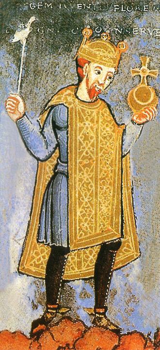 Bodfeld - Henry III, miniature from around 1040