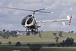 Helifly (VH-MZS) Hughes 269C at the Wagga Wagga Aero Club open day.jpg