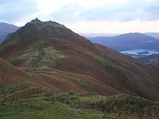 Helm Crag mountain in United Kingdom
