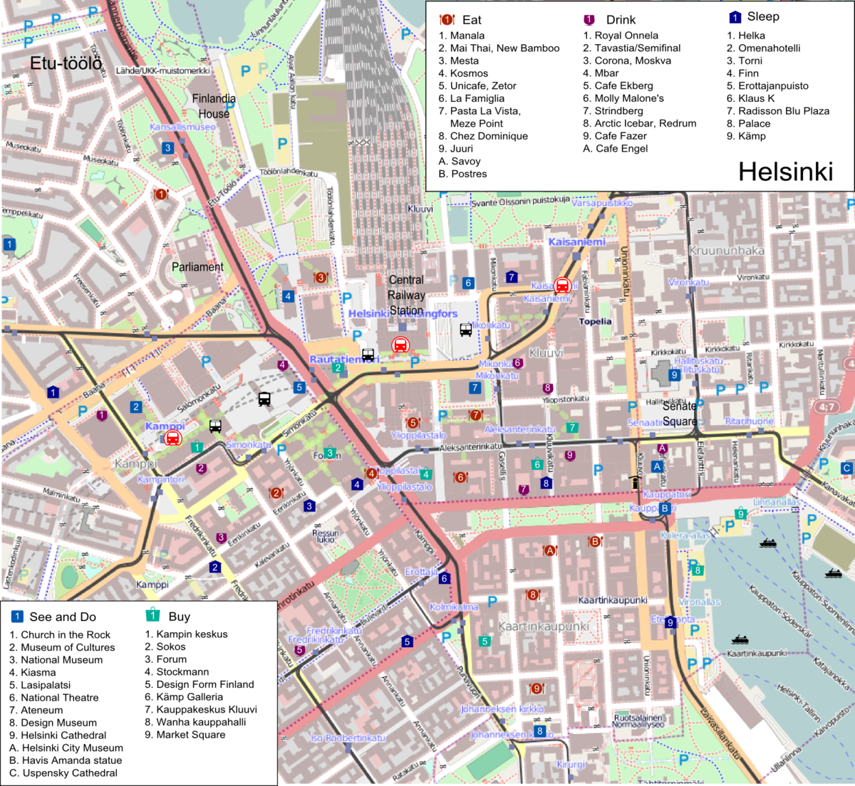 Helsinki itineraries Travel guide at Wikivoyage