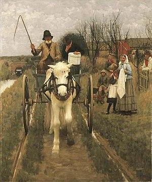 Henry Herbert La Thangue - Leaving home (1890)