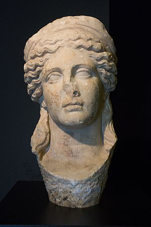 National Archaeological Museum, Tirana - Image: Hera, 2nd century, Durrës. Marble, 44 cm. Archaeological Museum of Tirana