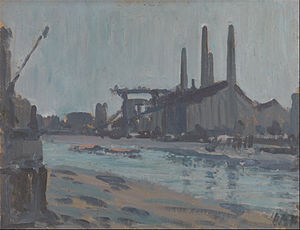 Hercules Brabazon Brabazon - Landscape with Industrial Buildings by a River, ca. 1890.