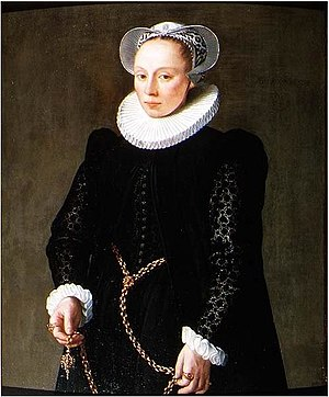 Vlieger (cape) - Image: Herman van der Mast Portrait of a woman aged 24 in 1587