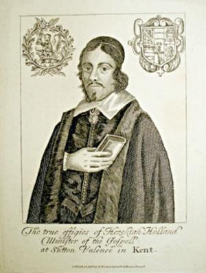 Hezekiah Holland (minister) - The true effigies of Hezekiah Holland, Minister of the Gospell at Sutton Valence in Kent