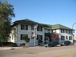 Higgins Hotel in Glenrock, WY USA.JPG