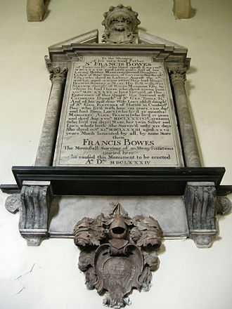 Low Coniscliffe - Bowes memorial