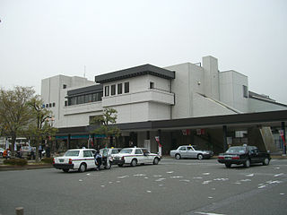 Hikone Station Railway station in Hikone, Shiga Prefecture, Japan