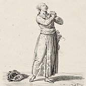 Clairval (Jean-Baptiste Guignard) als Blondel in Richard Cœur de Lion (Hippolyte Lecomte, 1830). (Quelle: Wikimedia)