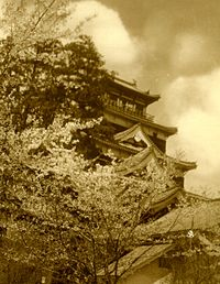 Hiroshima castle before bomb.jpg