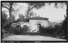 Historic American Buildings Survey Photographed by Henry F. Withey 1935 VIEW OF SOUTH FRONT. - El Molino Viejo, 1120 Old Mill Road, Pasadena, Los Angeles County, CA HABS CAL,19-PASA,1-1.tif