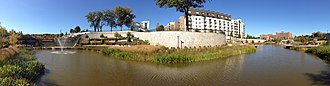 Historic Fourth Ward Park - Image: Historic Fourth Ward Park retention pond