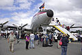 Historical Aircraft Restoration Society Lockheed Super Constellation 'Connie' (VH-EAG) at the Canberra Airport open day.jpg